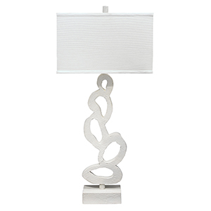 Ivy White Plaster One-Light Table Lamp
