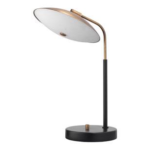Marvin Brushed Brass and Matte Black Two-Light Desk Lamp