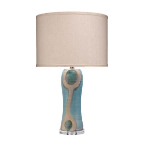 Maryln Blue Black with Natural One-Light Table Lamp