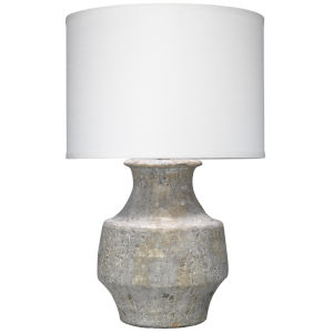 Masonry Gray Ceramic One-Light Table Lamp