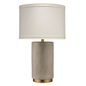 Mortar Gray Cement with Antique Brass One-Light Table Lamp