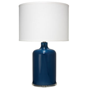 Napa Navy Glass One-Light Table Lamp