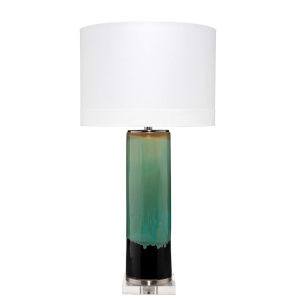 Wythe Aqua Black with Cream Glaze One-Light Table Lamp
