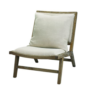 Baldwin Grey Linen and Wood Chair