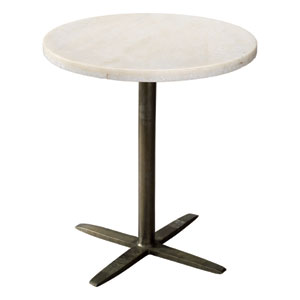 Berlin White Marble 22-Inch End Table