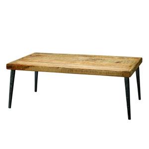 Farmhouse Natural Wood Coffee Table