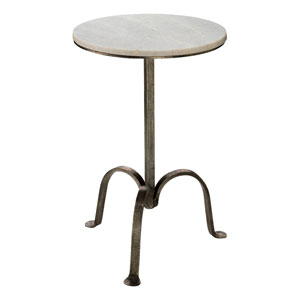 Gun Metal Left Bank Marble Table