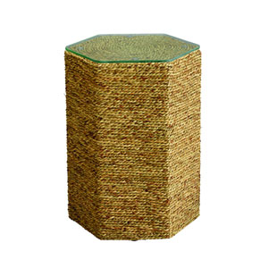 Peninsula Natural Sea Grass Side Table