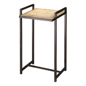 Steel Vellum Small End Table