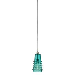 Ribbon Lake Blue One-Light Long Mini-Pendant