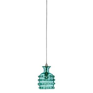 Ribbon Lake Blue One-Light Mini-Pendant