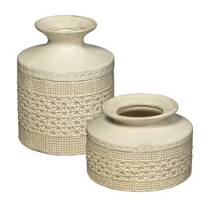 Astral White Vase, Set of 2