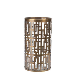 Cypress Antique Brass 5.5-Inch Hurricane Glass