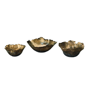 Fleur Antique Gold Bowl Set of Three