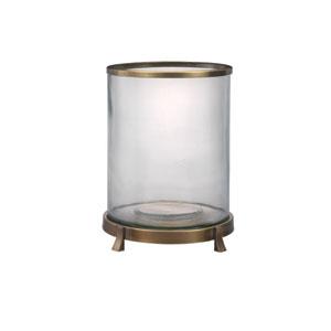 Fulton Antique Brass 14-Inch Hurricane Glass