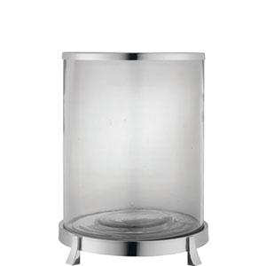 Fulton Nickel 14-Inch Hurricane Glass