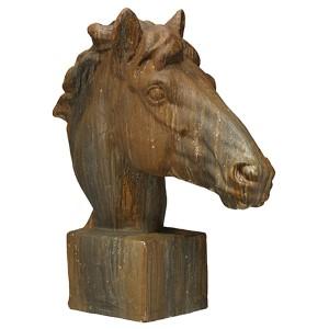 Mustang Antique Rust Horse Head Statue