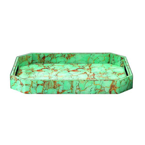 Octave Turquoise Pebble Tray