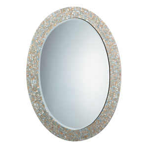 Mother of Pearl Oval Mirror