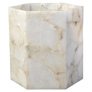 Savannah Alabaster Large Hexagon Hurricane