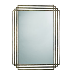 Serai Antique Silver and Patina Mirror