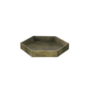Olive Faux Sagreen 13-Inch Decorative Tray