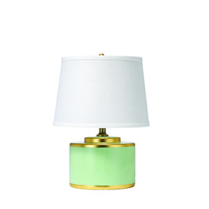 Basin Teal and Gold Ceramic Table Lamp