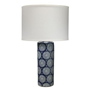 Blue and White 17-Inch One-Light Table Lamp