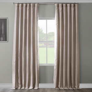 French Grey 96 x 50 In. Linen Curtain Panel