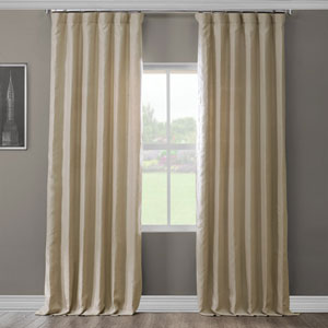 French Khaki 120 x 50 In. Linen Curtain Panel