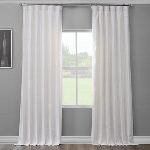Crisp White 120 x 50 In. Linen Curtain Panel