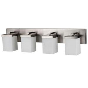 Brushed Nickel 30-Inch Four-Light LED Bath Vanity