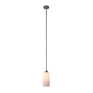 Brushed Nickel Four-Inch One-Light Mini Pendant