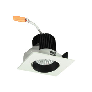 Iolite Black and White Two-Inch 30K LED Adjustable Cone Regress Square Recessed Light