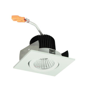 Iolite Matte Powder White Two-Inch 30K LED Adjustable Surface Gimbal Square Recessed Light