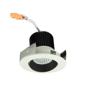 Iolite Black and White Two-Inch 27K LED Adjustable Cone Regress Round Recessed Light