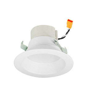 PRISM White Four-Inch LED Smart Color Changing Retrofit Baffle Downlight