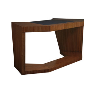 Aventura Brown Paragon Angled Writing Table