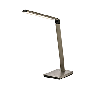 Illumen Metallic Grey 30-Inch One-Light LED Desk Lamp