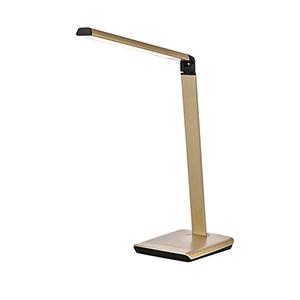 Lumen Champagne Gold One-Light LED Desk Lamp