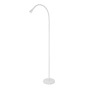 Illumen Glossy Frosted White 64-Inch One-Light LED Desk Lamp