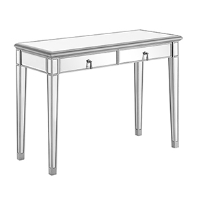 Contempo Hand Rubbed Antique Silver Paint 42-Inch Vanity