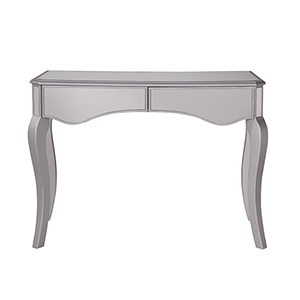 Contempo Hand Rubbed Antique Silver 42-Inch Scallop Vanity