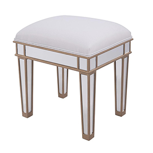 Contempo Hand Rubbed Antique Gold Vanity Stool