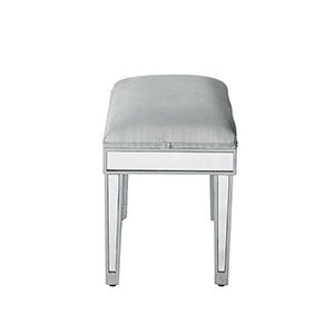 Reflexion Antique Silver Paint Vanity Stool