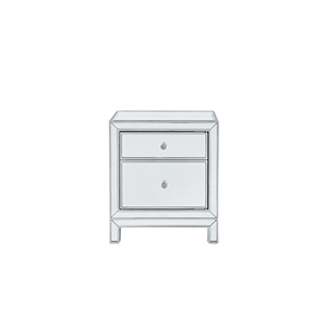 Reflexion Antique Silver Paint 24-Inch Nightstand