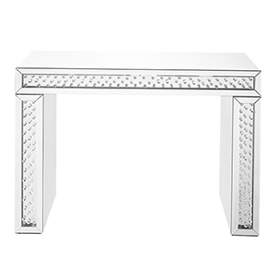 Modern Mirrored Crystal Console Table