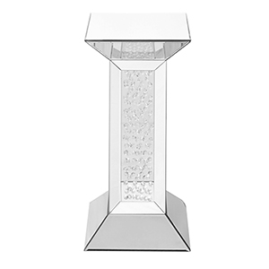 Modern Mirrored 24-Inch Crystal End Table
