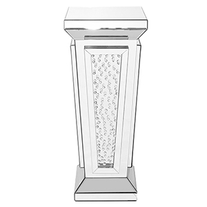 Modern Mirrored 35-Inch Crystal End Table