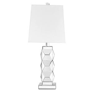 Sparkle Beveled Mirror 28-Inch One-Light Table Lamp